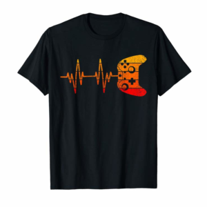 Adorable Gamer Heartbeat Video Game Lover Gifts Funny Gaming Gamer T-Shirt