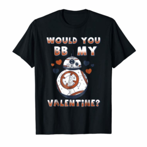 Adorable Star Wars Valentine's Day Would You BB Mine Graphic T-Shirt