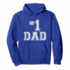 Adorable #1 Dad Number One Father's Day Vintage Style T-Shirt