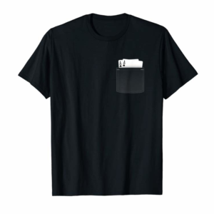 Buy Now Pocket Aces Poker T-Shirt (Spades & Clubs)