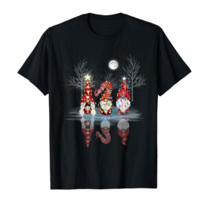 Trends Cool Three Nordic Gnomes Reflection Christmas Gnome Tomte T-Shirt