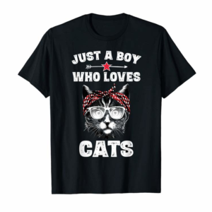 Trends Just A Boy Who Loves Cats Funny Cat Saying Gifts Boys T-Shirt