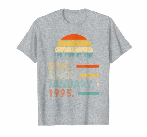 Adorable Epic Since January 1995 25th Birthday Gift 25 Years Old T-Shirt