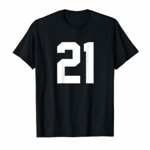 Order 21 Sports Jersey Number On Back T-Shirt For Team Fan Player