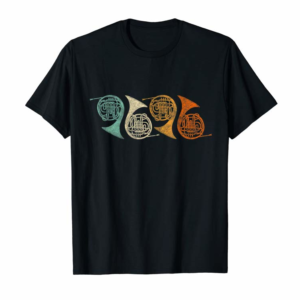 Buy Now Retro 70's Funny French Horn T-Shirt For French Horn Player