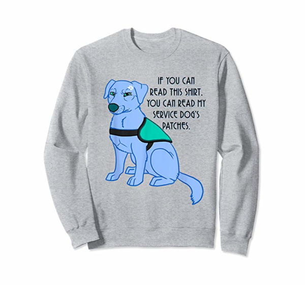 Buy You Can Read My Service Dog's Patches T-shirt