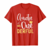 Order Now Womens Auntie Of Mr Onederful 1st Birthday First One-Derful Theme T-Shirt