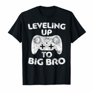 Buy Now Leveling Up To Big Bro T-Shirt Future Brother Gift Shirt