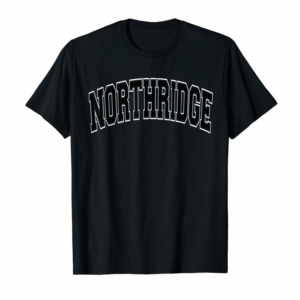 Buy Now Northridge Varsity Style Red With Black Text T-Shirt