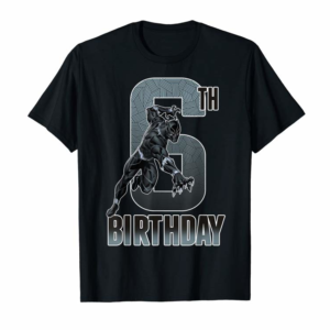 Trending Marvel Black Panther Action Pose 6th Birthday Graphic Tee
