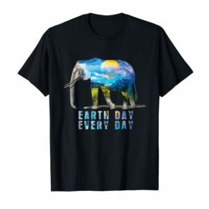 Order Elephant Earth Day T-Shirt Elephant Lover Gift Shirt