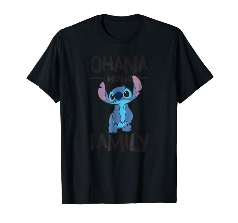 Buy Disney Stitch Ohana Means Family T Shirt