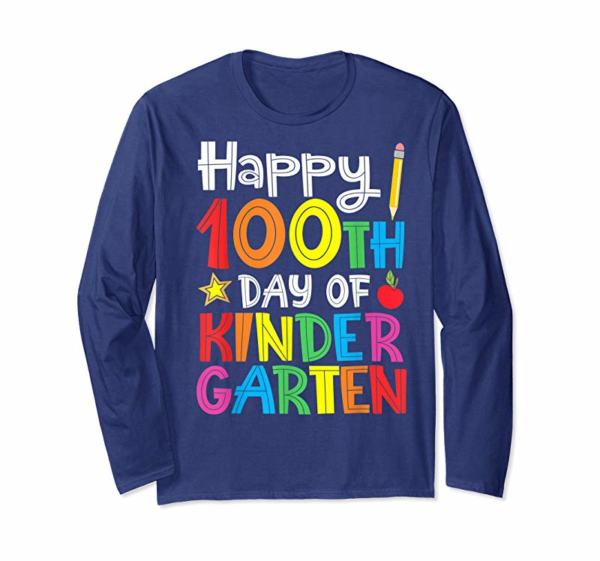Order Now Happy 100th Day Of Kindergarten Teacher Or Student T-Shirt