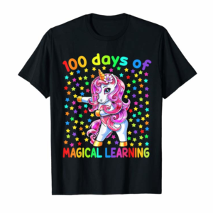 Buy 100 Days Of Magical Learning Flossing Unicorn Teacher Girls T-Shirt