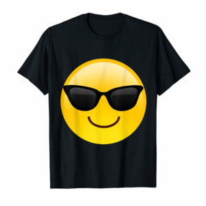 Buy Now Emoji Shades Smiley Face Sunglasses Cool Confident T-Shirt