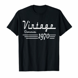 Buy Vintage Classic Born In 1970 Gifts 50th Birthday Christmas T-Shirt