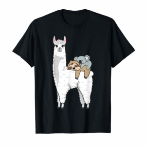 Trends PATRONUS SLOTH & KOALA ON LLAMA ALPACA, OFFICIAL NAPPING T-Shirt