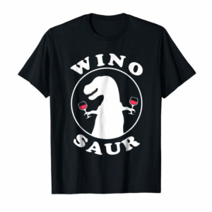 Trends Funny Wine Lover Wino-Saur T-Shirt