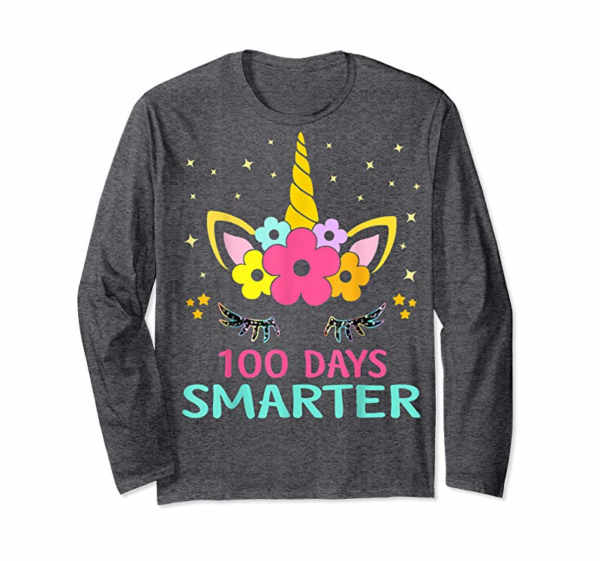 Adorable 100 Days Of School Shirt Unicorn Girls Costume Gift Tee T-Shirt