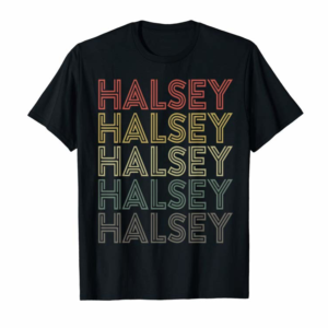Cool Halsey Retro Vintage Style Name T-Shirt