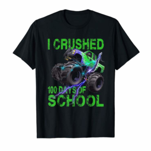 Adorable I Crushed 100 Days Of School Monster Truck Kids Boys T-Shirt