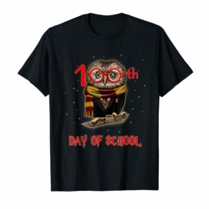 Adorable 100th Day Of School Owl Shirt Teacher Student Kids Gift T-Shirt