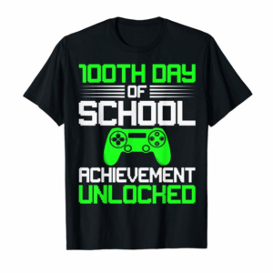 Adorable 100th Day Of School Shirt-Video Gamer Kids 100 Days Gifts T-Shirt