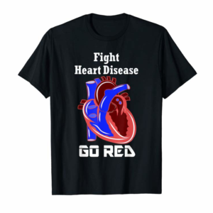 Adorable American Heart Month Go Red For Heart Disease Awareness Gift T-Shirt