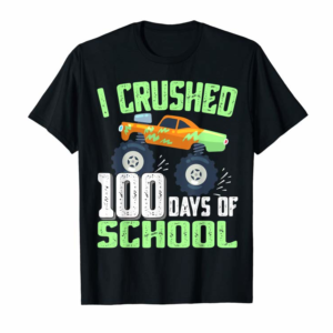 Buy I Crushed 100 Days Of School Monster Truck Gifts Boys Kids T-Shirt