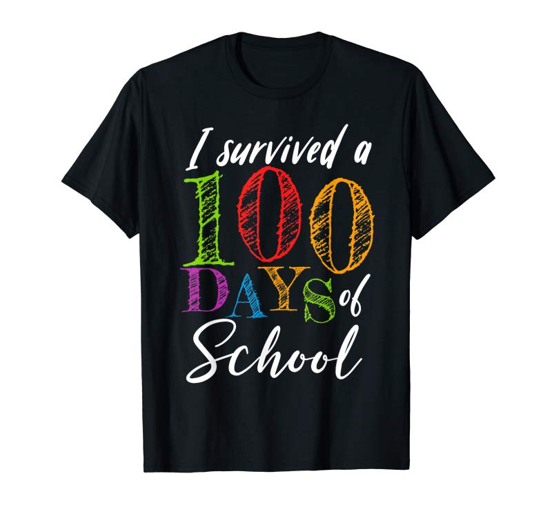 Order Now I Survived 100 Days Of School Gift For Teacher  Students T-Shirt