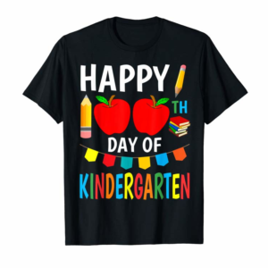 Adorable 100th Day Of Kindergarten T-Shirt 2020 Men Kids Boys Girls T-Shirt