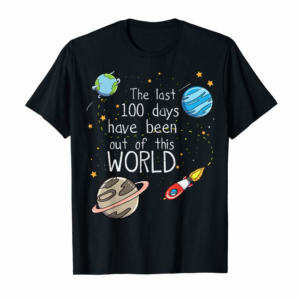 Shop 100th Day Of School Space Rocket T-Shirt