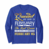 Trending Real Queens Are Born On February 05 Birthday Gift Women Girl T-Shirt