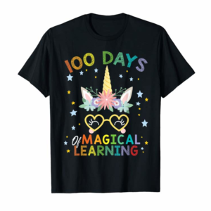 Trending Cute Unicorn 100 Days Of Magical Learning 100th Day School T-Shirt