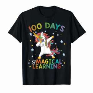 Buy Dabbing Unicorn 100 Days Of Magical Learning 100th School T-Shirt
