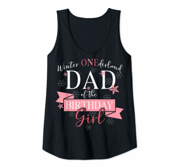 Trends Mens Winter Onederland Dad Of The Birthday Girl T-Shirt
