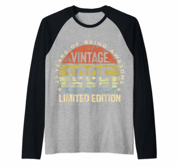 Buy Now 25 Year Old Gifts Vintage 1995 Limited Edition 25th Birthday T-Shirt