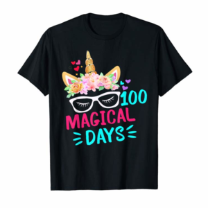 Adorable 100th Days Of School Shirt-Girls Cute Unicorn Costume Gifts T-Shirt