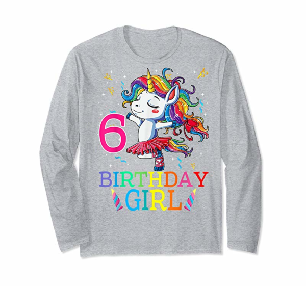 Adorable Kids Dabbing Unicorn 6 Year Old 6th Birthday Party Girl T-Shirt