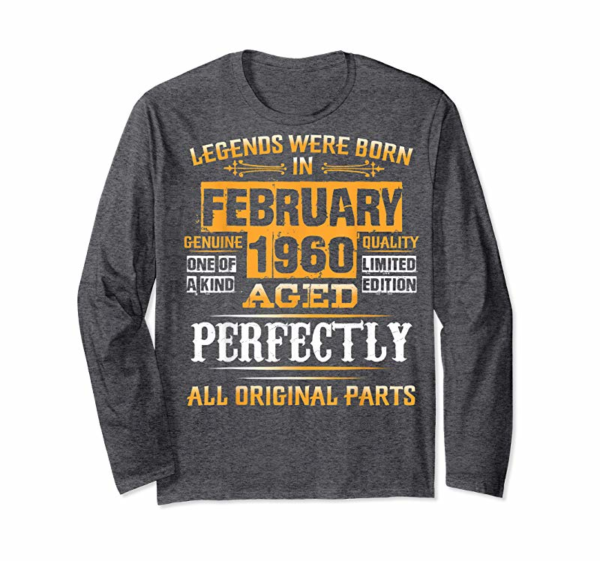 Trends Legends February 1960 60th Birthday Gifts For 60 Years Old T-Shirt