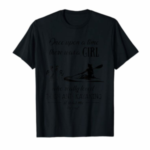 Trends There Was A Girl Who Really Loved Dogs And Kayaking Gift T-Shirt
