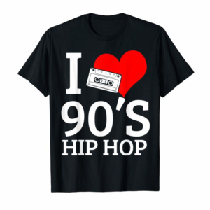 Adorable I Love 90's Hip Hop Rap Classics Old School T-Shirt