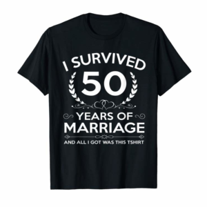 Adorable 50th Wedding Anniversary Gifts Couples Husband Wife 50 Years T-Shirt