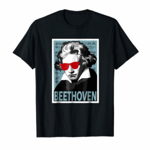 Buy Ludwig Van Beethoven Poster Style Graphic T-Shirt