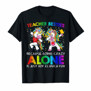 Buy Now Gymnastics Teacher Besties Dabbing Unicorn Crazy Exercise T-Shirt