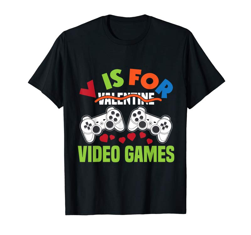 Order Funny Video Games Lover Valentine Day Shirts For Kids Boys T-Shirt