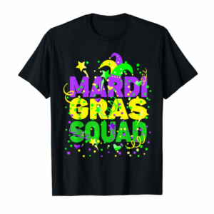 Adorable Mardi Gras Squad Party Costume Outfit - Funny Mardi Gras T-Shirt