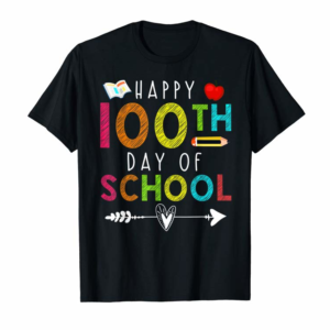 Adorable Happy 100th Day Of School T-Shirt For Teacher Student Gift T-Shirt