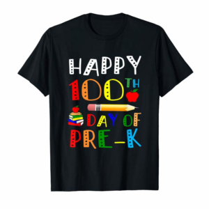 Cool Happy 100th Day Of Pre-k Teacher Student Gift T-Shirt
