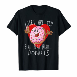 Adorable Funny Valentines Day T Shirt Boys Roses Are Red Donuts